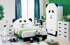 Lola's dream room ... tad too many pandas for my liking :) love the shade of turquoise