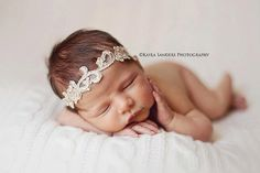 Aphrodite - White Cream Ivory Gold OR Silver - You CHOOSE - Halo Headband Crown - Pearls - Girls Newborns Baby Infant Adults on Etsy, $20.00