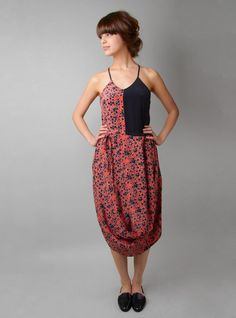 (This Rachel Comey dress is gorgeous and I will tell you why: the skirt looks like the swag on the front of a Victorian lady's gown. Tomboy Fashion, Boho Fashion, Girl Fashion, Fashion Outfits, Pretty Outfits, Cool Outfits, Ugly Outfits, Dress Up, Silk Dress
