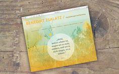 Template for psychotherapist Benedikt Zsalatz   zsalatz.at by didschidisein.com Corporate Design, Web Design, Template, Cover, Books, Design Web, Libros, Book, Vorlage