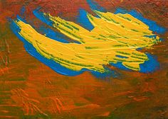 Drought ORIGINAL ACRYLIC PAINTING 5 x 7 by Mike by MikeKrausArt