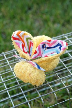 Yellow Chevron Boo Boo Bunny  For Owies by thelilredwagon on Etsy, $6.95 #easter #booboobunny #toddler