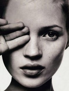 Kate Moss by David Sims for i-D. February 1996.