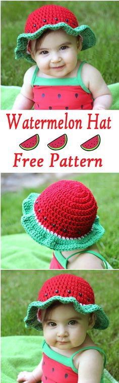 Crochet Watermelon Hat
