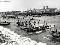 PEOPLE OF INDIA PHOTOS: Old chennai-[madras city and madras state]- photo gallery-Chennai name originated in china-patna Chennai, Madras City, Native Place, Christian College, Today In History, India People, Bank Of India, Second World, Capital City