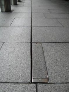 Canal de drenaje para espacio público / de metal / con abertura / para drenaje - BRICKSLOT - ACO