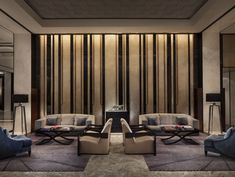 View full picture gallery of Four Seasons Hotel Pudong Lobby Interior, Interior Walls, Luxury Interior, Interior Architecture, Apartment Interior, Hotel Lounge, Lobby Lounge, Lounge Decor, Design Hotel
