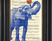 Elephant with Ball print on upcycled Vintage Sheet Music Page mixedd media digital page ink animal Band Website, Music Page, Vintage Sheet Music, Elephant Print, Upcycled Vintage, Art Journal Pages, Free Prints, Antique Books, Book Art