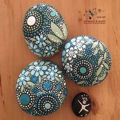 Bemalte Steine Mandala inspirierte Design von etherealandearth