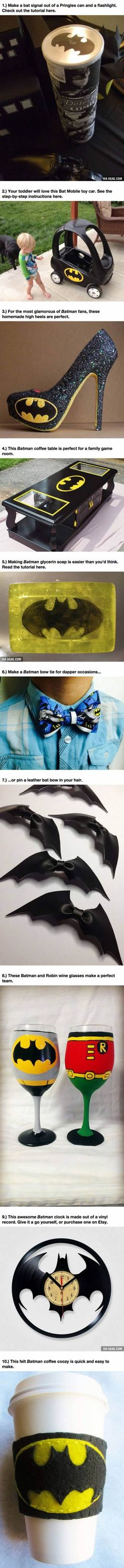 Check Out These 10 Geeky DIY Projects For Any Batman Obsessed Fan