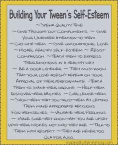 Self-Esteem: Activities for Building Your Tweens Self-Esteem