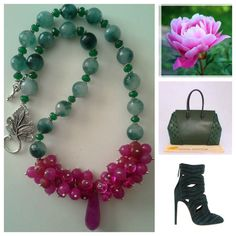 Statement Emerald and Hot Pink Turmalined by GemsPearlsAndBeyond, $60.00