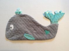 Whale Blanket Whale Blankie Security Blanket Sensory by TiedByTi
