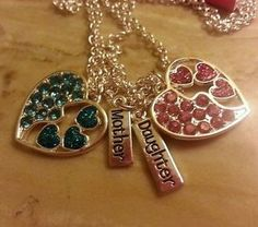 justice for girls | justice for girls mother daughter 2 heart necklaces Valentines day
