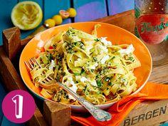 Sommer-Tagliatelle, Garnelen-Tomaten-Pasta, Nudeln mit Erbsen-Carbonara, One-Pot-Makkaroni und Orecchiette mit Brokkoli sind meine Top 5 der Woche!