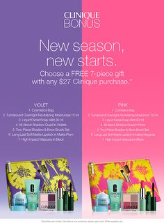 Only a few days left to get one of this Clinique gift from Dillard's. clinique-bonus.com/dillards/