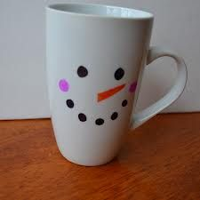 sharpie mugs - great gifts for students.....then place inside the contents to make snowman soup....