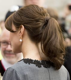 A closer look at what has become a staple for Kate -- the chic ponytail!
