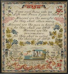 embroidery sampler - Google Search