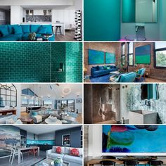 Beautiful Turquoise home decoration for your dream house.İf you love turquoise color this post for you. Natural Wood Furniture, Large Furniture, Turquoise Decorations, Turquoise Tile, Home Decoration, Large Sofa, Colored Highlights, Brick Wall, Bed Covers