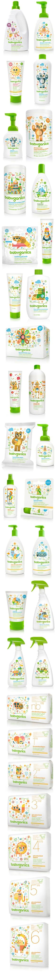 Check out this gorgeous #plastic #packaging for BabyGanics products.: