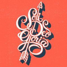 """Soli Deo Gloria"" translation: Glory to God alone. Designed by Nick D'Amico(@designbydiamond)."