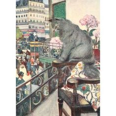The Cat 1905 Loki the cat Canvas Art - Adolphe Birkenruth (18 x 24)