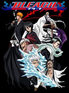 Bleach!  Kurosaki Ichigo is not a regular 15 year old, because he has always had the ability to see spirits and ghosts. One day, a female Shinigami (God of Death) named Kuchiki Rukia appears before him, hunting for an evil spirit. But during the confrontation, the Shinigami's powers are transfered to Ichigo. Thus begins the adventures of Ichigo and Rukia and their mission to herd Hollows (fallen spirits) as well as confronting other spiritual beings.