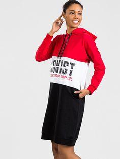 Dámske šaty športové červené v rôznych veľkostiach Sport, Sweaters, Dresses, Fashion, Vestidos, Moda, Deporte, Fashion Styles, Sports
