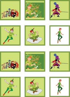 Peter and Frands, Tinker Bell & Peter Pan, Stickers - Free Printable Ideas from Family Shoppingbag.com