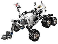 The LEGO NASA Mars Science Laboratory Curiosity Rover has landed! Designed by real Curiosity Rover engineer, Stephen Pakbaz. Nasa Curiosity Rover, Curiosity Mars, Mars Science Laboratory, Lego Kits, Lego Store, Buy Lego, Lego Brick, The Martian, Legos