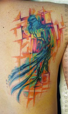 Quetzal tattoo design by icarusdie icarusdie tattoo for Quetzal bird tattoo