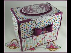 Stampin'Up Tea Toten' Get Well Card Gift Box with English Garden DSP - YouTube