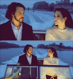 Angelina Jolie and Johnny Depp from the movie The Tourist