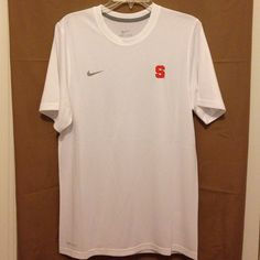 NWOT, Syracuse nike dri-fit shirt  Brand new, Syracuse Nike dri-fit shirt sleeve tee.  NWOT, never worn or washed. Mens small, white Nike Tops Tees - Short Sleeve
