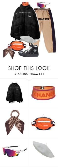 """""""Sans titre #1095"""" by a4styled ❤ liked on Polyvore featuring Ecko Unltd., Fila, Chanel, Christian Dior, Heron Preston, Oakley and A4STYLED"""