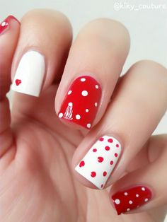 manicure para san valentin