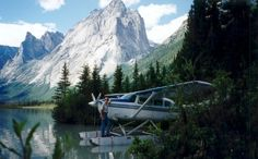Cessna with floats on Glacier Lake.