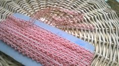 22 Yards + Pink Victorian Lace Braid Unused French Cotton Made Extra Long Lace Sewing Project Home Decor #sophieladydeparis