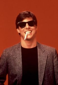 Risky Business...Tom Cruise's big break film. It's all about the Ray Bans.