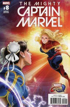 The Mighty Captain Marvel #8 (Marvel vs Capcom Variant)