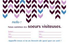 Carte de visite pour sœurs visiteuses