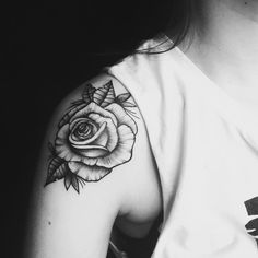rose-tattoo-shoulder-design (3) The Most Lovely and Beautiful ever inked #rose #tattoo designs to get inked
