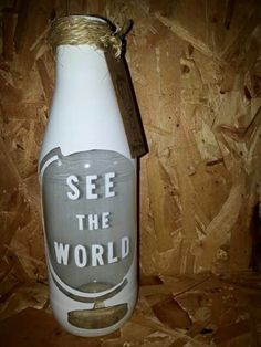 See the world.   Facebook: Being creative