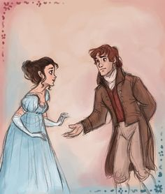 It looks like Disney concept art, which makes me realize we need a Disney princess movie set in the Jane Austen era. Elizabeth Gaskell, Elizabeth Bennet, Mr Darcy And Elizabeth, Character Inspiration, Character Design, Timberwolf, Hogwarts, Jane Austen Novels, Fanart