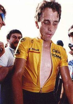 Greg Lemond, unhappy in yellow.