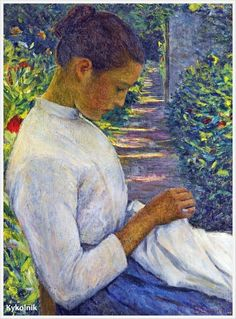 Lilla Cabot Perry - woman in the garden