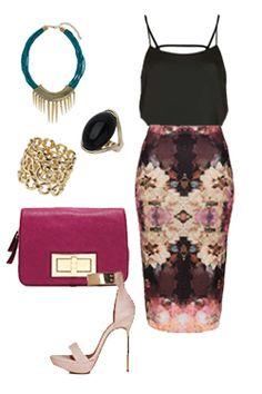 Miss High Street - High Street's Hottest - Print tube skirt