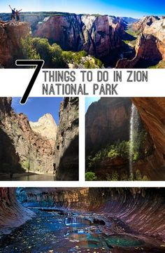 Add Zion National Park to your summer road trip! Check out these 7 things to do in Zion National Park! Us National Parks, Zion National Park, Zion Park, Zion Utah, Utah Vacation, Vacation Destinations, Vacations, Las Vegas, West Coast Usa
