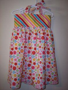 Ambers Halter Dress Size 3T Riley Blake Hello by SewWhatsGoingOn, $32.00